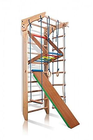 Turnwand Kinder Gym Klettergerüst ˝Kinder-3-220-Farbe˝ Holz ...