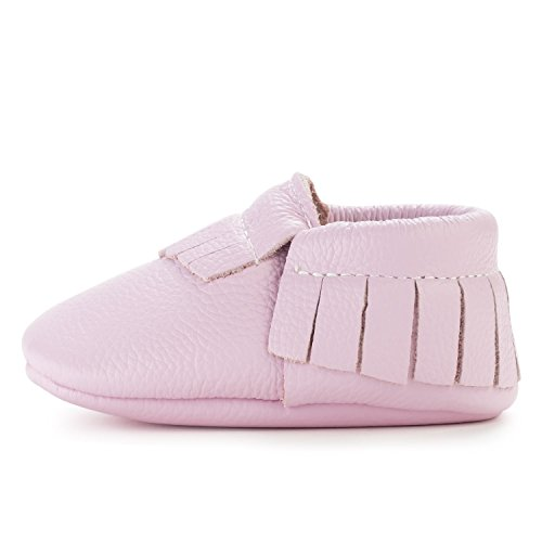 (BirdRock Baby Moccasins - 30+ Styles for Boys & Girls! Every Pair Feeds a Child (US 9.5, Lavender))