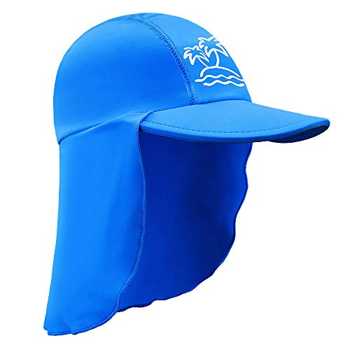 HUAANIUE Baby Toddler Sun Protection Hat UPF 50 + Swim Hat Royal 2-4 T ()