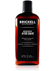 Brickell Men's Instant Relief Aftershave for Men – 4...