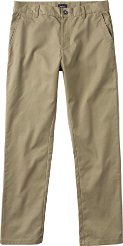 Weekend Chino Pants - RVCA Men's Weekend Stretch Chino Pant, Khaki, 31