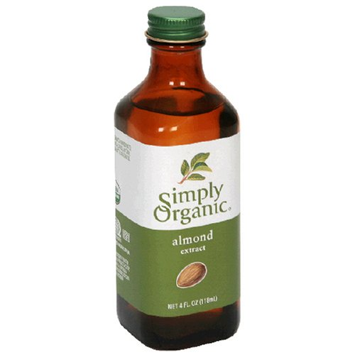 Simply Organic Almond Extract, Certified Organic, 4-Ounce Containers  (Pack of 3) -