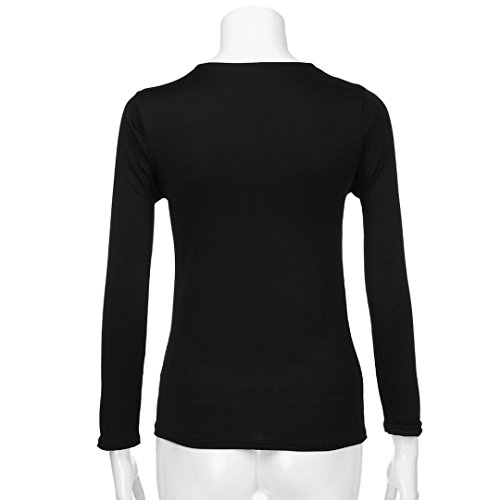 Manches Neck Chemisier V Sexy Chemisier Shirt Casual Tops Noir Manches Longues Femme T Casual T Chemisier Longues JIANGfu Shirt Sequins Femmes 7qtOqI