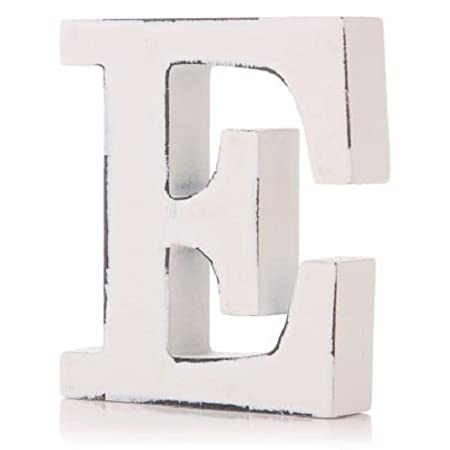 Vintage White Wooden D Letter by giftwarez