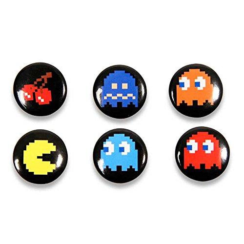 Amazon.com: Oficial Pac-Man Pin insignias Juego de 6: Toys ...
