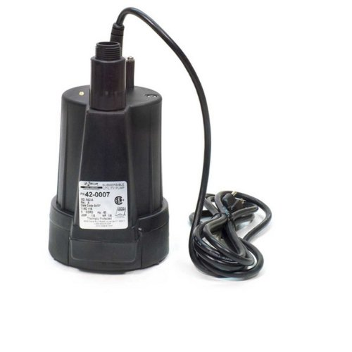 Zoeller 42-0007 115-Volt 1/6 Horse Power Model N42 Floor Sucker Non-Automatic Utility (Zoeller Submersible Pumps)