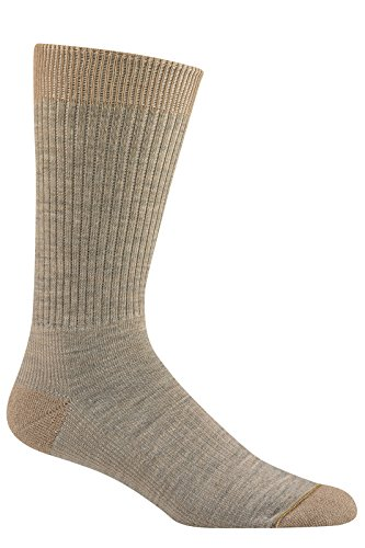 Wigwam Mills Men's Everyday Fusion Crew Sock MD Khaki (Wigwam Everyday Fusion)