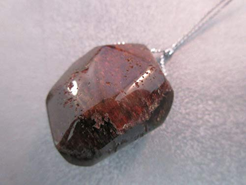 Red Phantom Rutilated Quartz Nugget Pendant 1pc #ID-1127