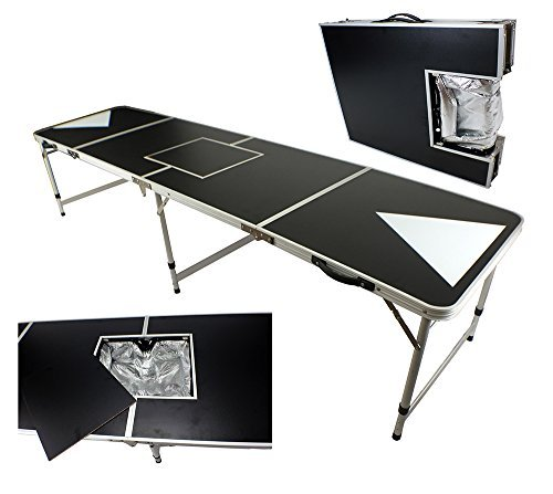 NEW ICE BAG ICY CHEST COOLER BEER PONG TABLE 8' ALUMINUM PORTABLE ADJUSTABLE FOLDING INDOOR OUTDOOR TAILGATE DRINKING PARTY GAME TRIANGLE SQUARE #3 (Beer Pong Mats)