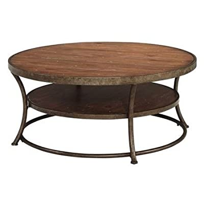 Cocktail Table Round,Curved Legs,Rustic,Bronze