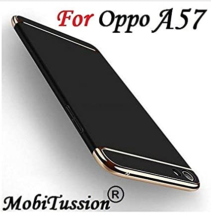detailed look 1681d ce98b MOBITUSSION Oppo A57 Cover Rose with Gold [MobiTussion] Eventual Series  Luxury 3in1 Back Cover case for Oppo A57 Back Cover case (Black)