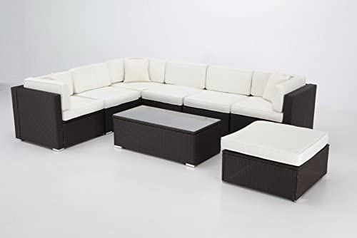 almar garden Sofa Modular Rattan Chocolate Puerto Rico Chill out: Amazon.es: Jardín