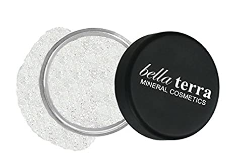Mineral Glitter Eyeshadow Makeup Powder – Metallic Cosmetic Highlighter for Face & Nails – Pigment Dust - Natural Makeup (Black Pearl) Bella Terra Cosmetics