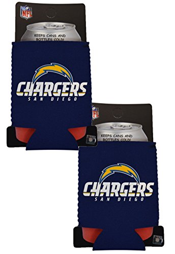 Official National Football League Fan Shop Authentic 2-Pack NFL Insulated 12 Oz Can Cooler (San Diego - Hat Beer Nfl