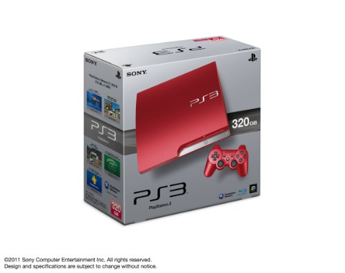 PlayStation3 Slim Console (HDD 320GB Scarlet Red Model)[Japanese Import]