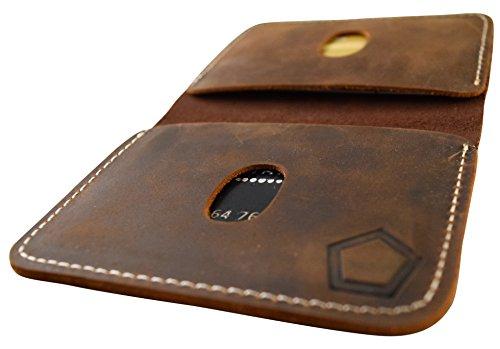 KNOXX Wallets – Slim Leather Minimalist Men's Tough Wallet or Cardholder Brown – Handmade