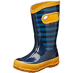 Bogs Kids Stripes Rain Boot (Toddler/Little Kid/Big Kid), Navy Multi, 3 M US Little Kid