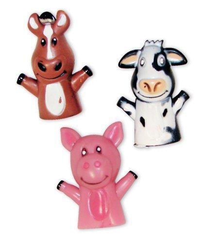 Farm Animal Vinyl Finger Puppets (1 dz) by Rinco