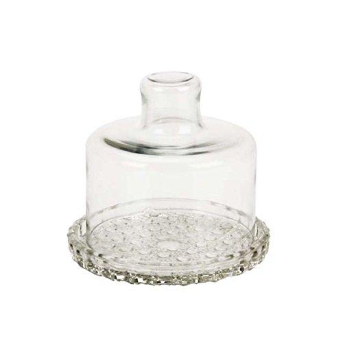 Queijeira Pequena Colonial Vidro diâmetro 14 cms - Mistral