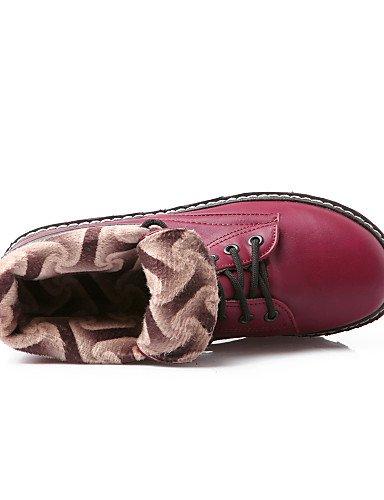 de Plein de de Bottes Cheville Moto Citior Sangle Femme Bottes Chaussures Plate en Rond Chaussons blanc Bottes fermé Forme air pour pour Bout Bout Femme décontracté Xq6qxwBP