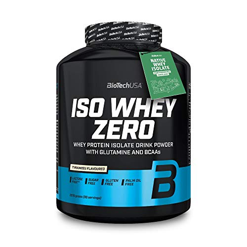 BioTechUSA Iso Whey ZERO, Lactose, Gluten, Sugar FREE, Premium Whey Protein Isolate, 2.27 kg, Tiramisu