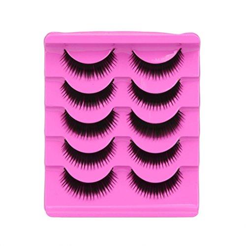 Soft Long Cosmetic False Eyelashes (Black) - 4