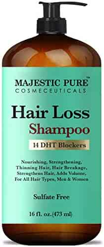 Majestic Pure Hair Loss Shampoo, Offers Natural Ingredient Based Effective Solution, Add Volume and Strengthen Hair, Sulfate Free, 14 DHT Blockers, for Men & Women - 16 fl Oz
