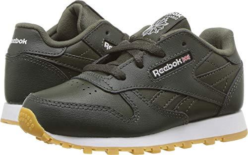 92bd2880 Reebok Baby Classic Leather Sneaker, Gum-Dark Cypress/White, 9 M US Toddler