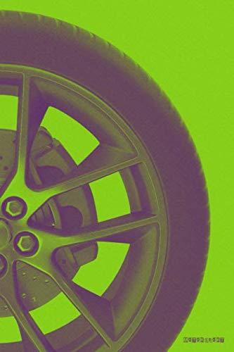 Motorsport: F1 MotoGP NASCAR Rallying Racing (Green) Bullet Journal Dot Grid BuJo Daily Planner ()