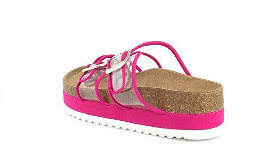 Jeffrey Campbell Platform Womens Sandal ES Clear Fuchsia Fatu 1BqHv1