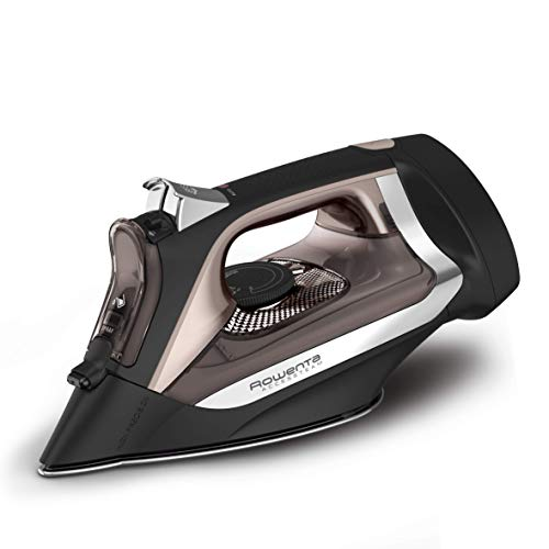 affordable Rowenta DW2459 Access Steam Iron with Retractable Cord and Stainless Steel Soleplate, Black