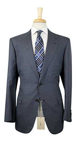 Brioni Wool Suit (BRIONI 'Palatino' Gray Wool-Silk 2 Button Suit Size 54/44 R Drop 6)