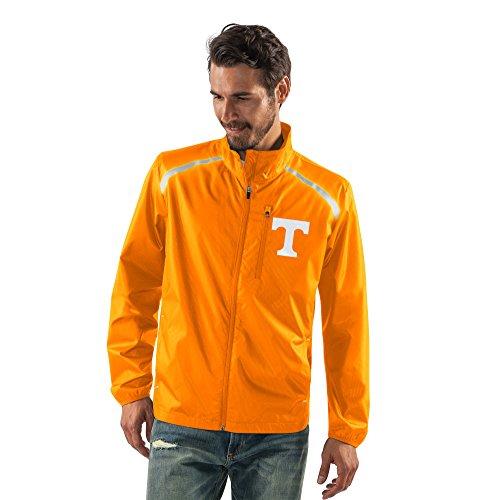 NCAA Tennessee Volunteers Men's Storm Full Zip Packable Jacket, Medium, - Jacket Tennessee Volunteers
