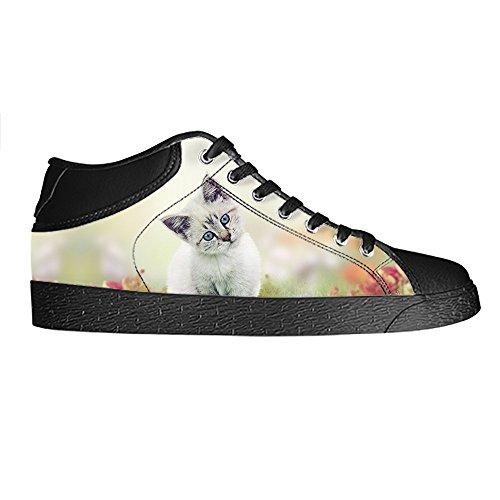 Custom Katzen malen Womens Canvas shoes Schuhe Lace-up High-top Footwear Sneakers C