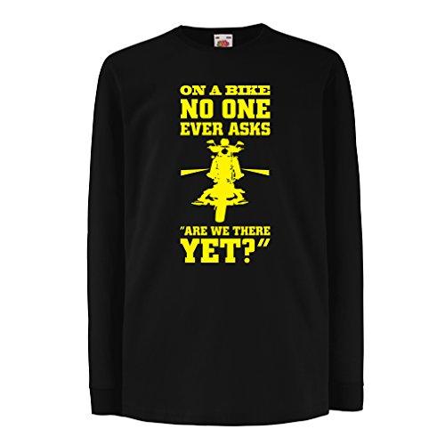 Funny t shirts for kids Long sleeve On a Bike ... - biker wear (3-4 years Black Multi Color)