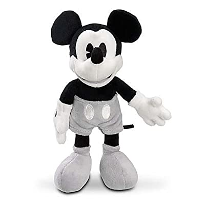 Disney Mickey Mouse Black and White Collectible Plush Doll: Toys & Games