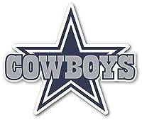 Dallas Cowboys Star with Text Sticker Vinyl Decal 5 SISEZ Truck Window Helmet Motorcycle Hard Hat Bumper Laptop Wall Art Emblem Large Dallas Cowboys Sticker