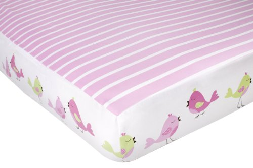 CoCaLo Mix & Match Candy Stripe Fitted Sheet, Audrey