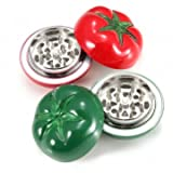 Tomato Style Tobacco Grinder Herb Spice Crusher 2 Colors