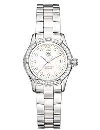 TAG Heuer Women's WAF1416.BA0813 Aquaracer Diamond Accented Quartz Watch