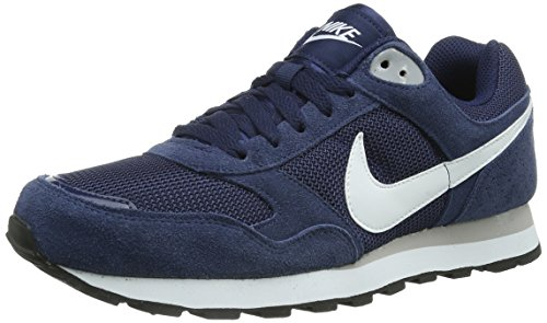 Nike Md Runner Txt 629337-411 Herren niedrig Blau (Midnight Navy/White-Wolf Grey) 46