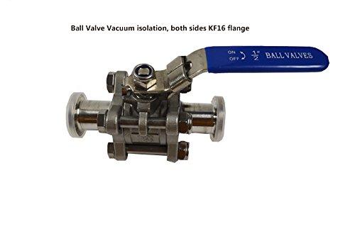 Ball Valve Vacuum isolation, both sides KF16 flange(item#020084)