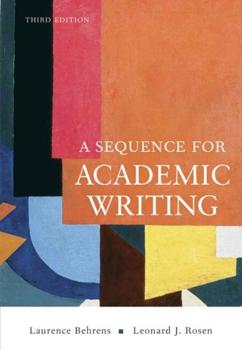 Sequence for Academic Writing, A (3rd Edition)