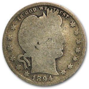1894 S Barber Quarter Good Quarter Good