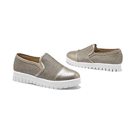 on Pumpe sko Pull Lukket Gull Fast Tå Voguezone009 blandingsmaterialer Lave Rund Hæler F xvwvH6zqA