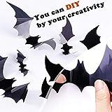 3D Bats Wall Decal Halloween Decorative Scary
