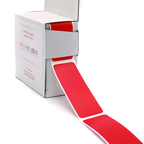 "1"" x 3"" Red Rectangle Color Coding Stickers 