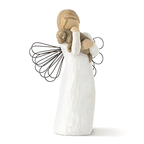 Willow Tree hand-painted sculpted angel, Angel of Friendship (Christmas Puppy Dog Ornament)