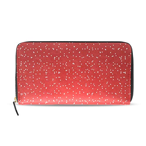 Womens Wallets Christmas Falling Snowflakes Leather, used for sale  Delivered anywhere in USA