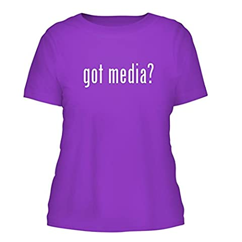 got media? - A Nice Misses Cut Women's Short Sleeve T-Shirt, Purple, Medium (Roku Purple)